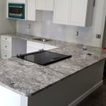 Goodfellas Granite On Twitter Taupe White Granite Counters White Cabinets And Light Grey Walls Make This Secondary Kitchen Complete Goodfellasgranite Kitchen Taupewhite Clean Https T Co Hxhlibnsoj
