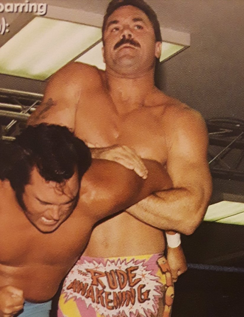 """Rasslin' History 101 on Twitter: """"Talk about random match-ups:Rick Rude vs Honky Tonk Man.June 5,1991,Brooklyn,New York.""""Ravishing Rick"""" and Honky Tonk had a mini-feud in the IWCCW over who was the greatest Intercontinental"""