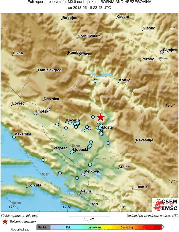 Objavljene nove informacije o snažnom zemljotresu u BiH, a jedan detalj je posebno zabrinjavajući 1
