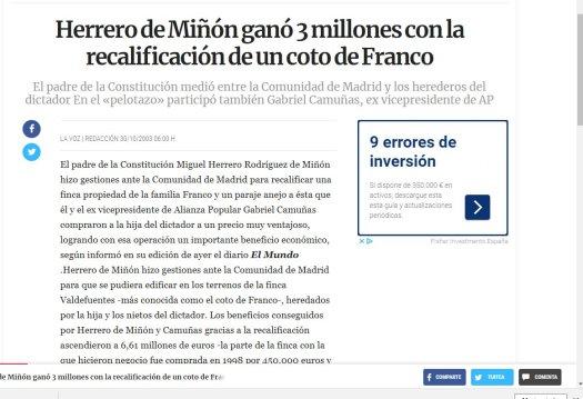 test Twitter Media - Miguel Herrero de Miñón, padre de las Constitución, que no de la democracia, pide un funeral de Estado para Francisco Franco. Si quiere que lo pague él con los 3 millones de euros que ganó recalificando una finca de la familia del dictador. https://t.co/Jz1X8OPA9x