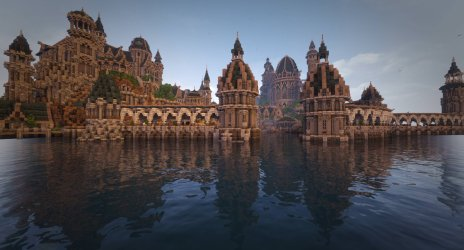 ArdaCraft on Twitter: The Elven city of Mithlond as seen from the bay Capture by PhwoollyMammoth