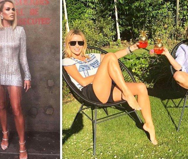 Britainsgottalent Judge Amanda Holden Displays Sexy Legs In Tiny Hot Pants Https