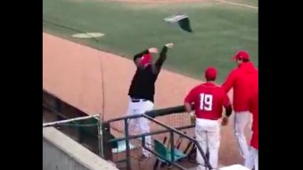 Canadian Baseball Manager Has An All-Time Meltdown, Throws Chairs Onto The Field