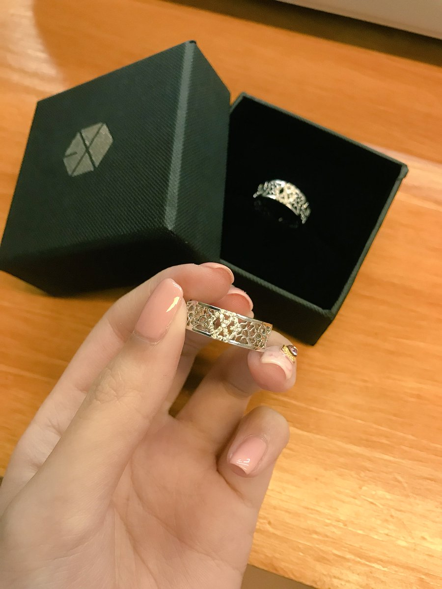 Exo Ring : 💛🍯, Twitter:, Recieved, Rings, 😭😭😭😭😭😭…