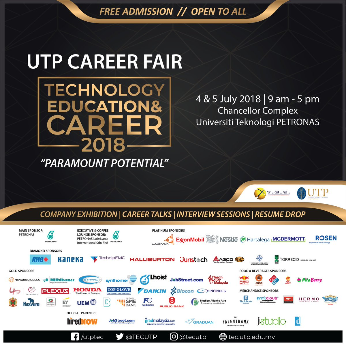 """Tec On Twitter: """"🔥[Tec Is Here]🔥 Dress To Impress And Prepare Many Copies  Of Your Resume. Kick-Start Your Future Career Here With Tec18 📝 #tec18"""