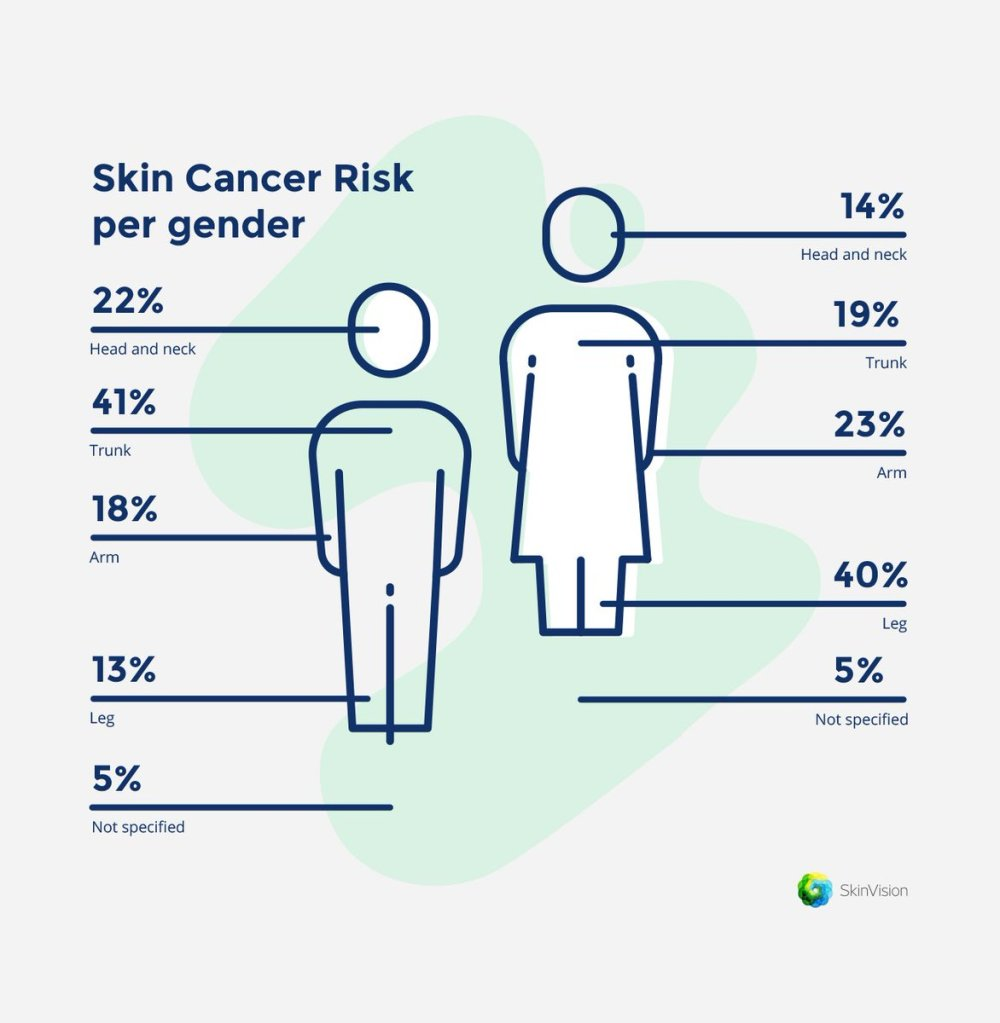 medium resolution of skinvision on twitter when we talk about the areas on our body where skin cancer appears studies have shown that there are a few common places to point