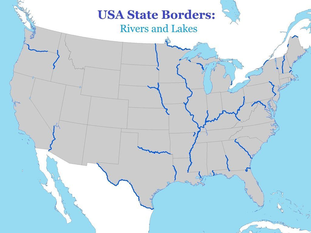 Maps are a terrific way to learn about geography. Simon Kuestenmacher Twitterren Map Shows Which Us State Borders Follow Along Rivers And Lakes The Other Borders Are Mostly Straight Lines Source Https T Co V8gotqgeol Https T Co X1ygbbyvcb