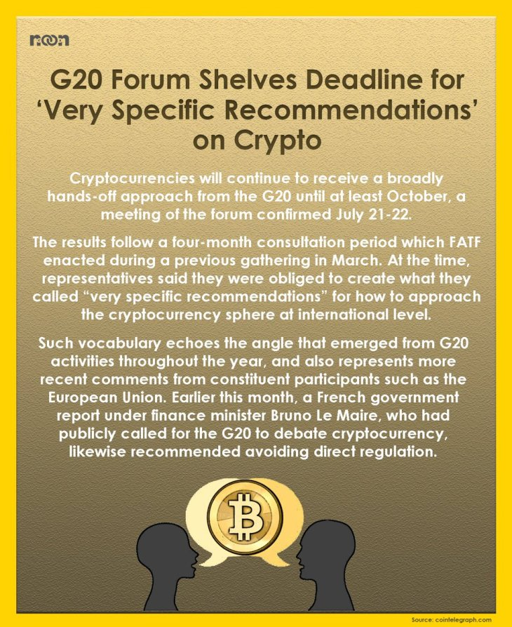 G20 Adopts FSB Recommendation for cryptocurrency