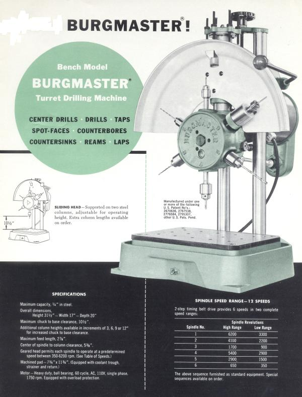 Burgmaster Turret Drill Press