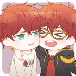 permanently tired on Twitter: Chibi icon commission of the Choi twins~