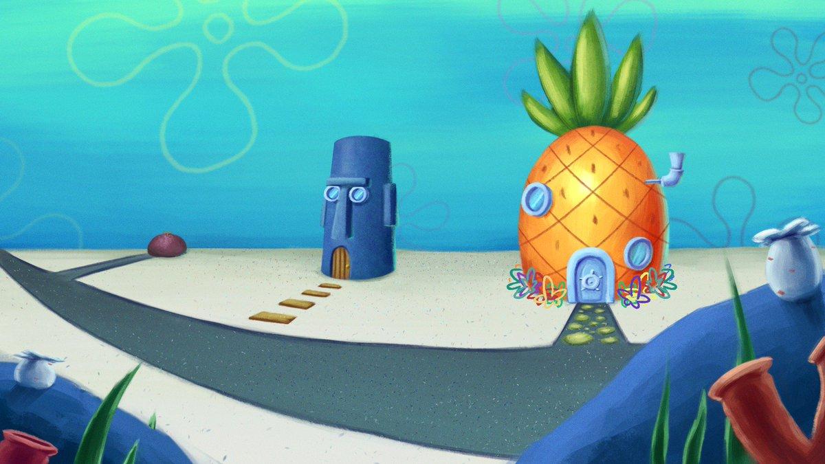 spongebob background wide wallpapers