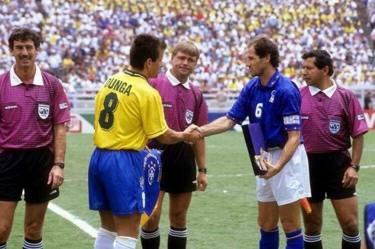 """90s Football on Twitter: """"Carlos Dunga and Franco Baresi, shake ..."""