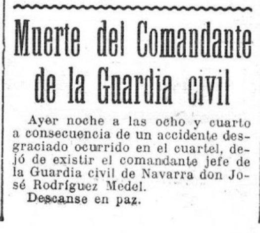 test Twitter Media - En Pamplona, es asesinado el comandante José Rodríguez Medel, jefe de la guardia civil y leal al gobierno. Por lo visto fue a traición... https://t.co/FJpPM4ErM6
