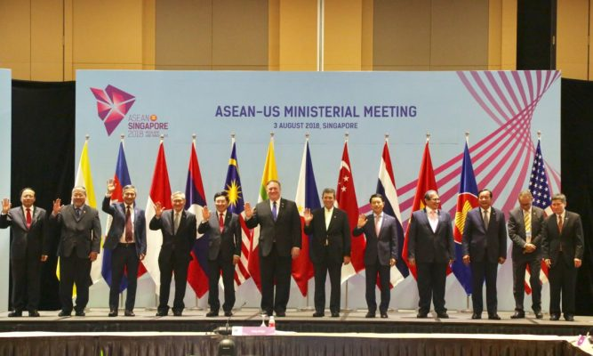 Image result for Mike Pompeo MEETS WITH ASEAN