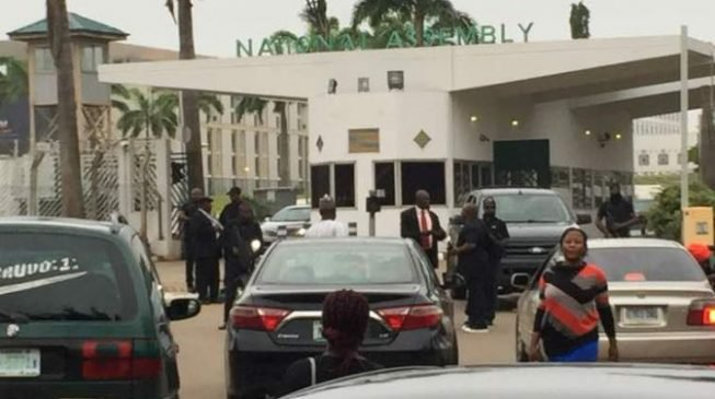 Image result for JUST IN: DSS operatives block entrance of national assembly