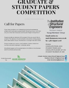 The istructe ni young members group are running papers competition again this year  word abstract could lead to you winning info in poster also hashtag on twitter rh