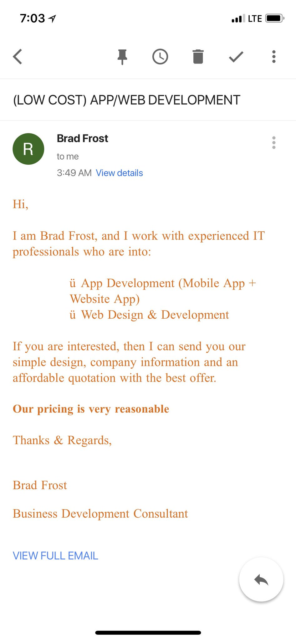 """Brad Frost On Twitter: """"i Apparently Sent This Email To @chriscoyier.  Because I Could Tell He Needed Some Help With Website App Development.… """""""