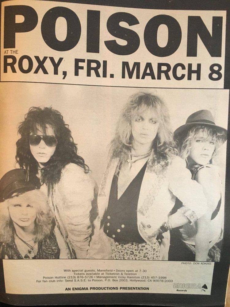 "metalsludge on Twitter: ""Poison BC. As in - before C.C. BAM ad Mar '85.  #Sludge archives! @Bretmichaels @Rikkirockett #BobbyDall #MattSmith… """