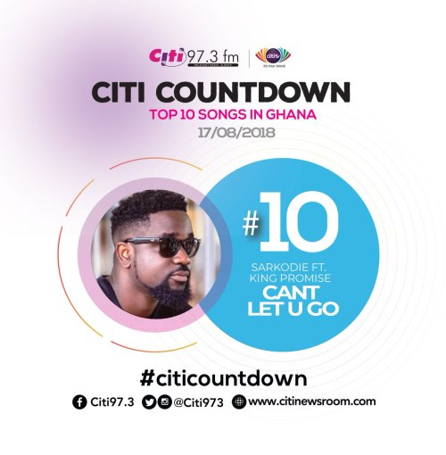 small resolution of let s get on the chart this week and it s the king sarkodie at number 10