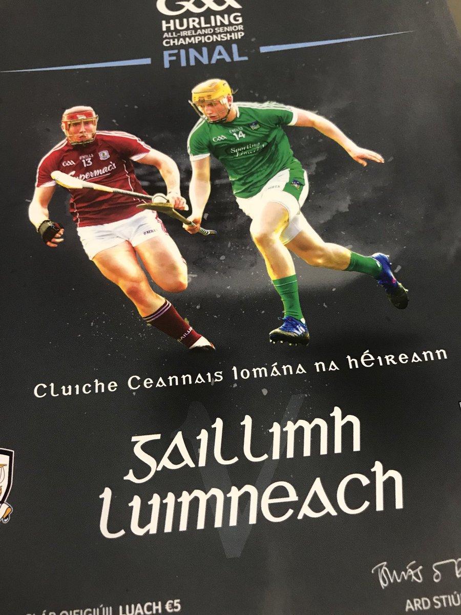 test Twitter Media - Its All-Ireland Senior Hurling Final time, Galway v Limerick Live on RTE2 coverage from 14.15 https://t.co/rvJ54sNWDj