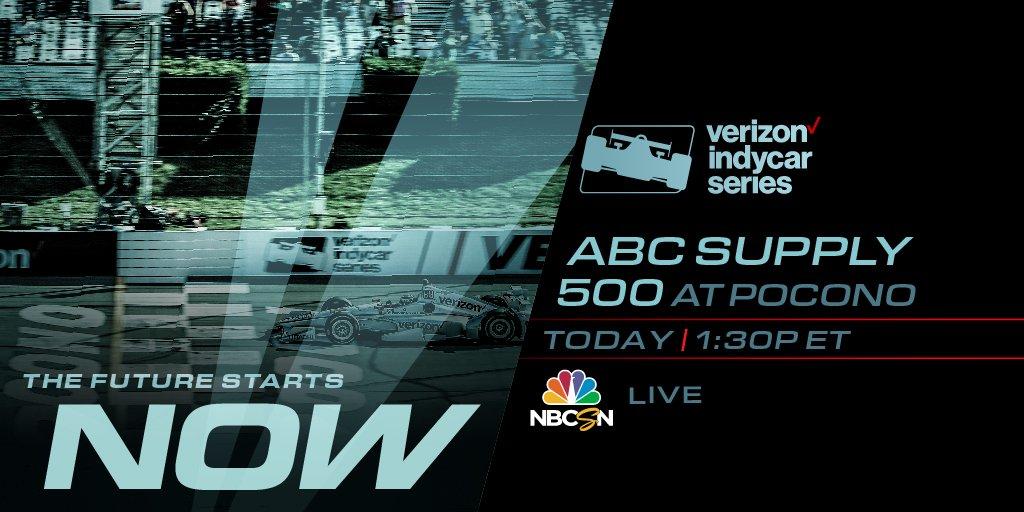 test Twitter Media - It's Race Day.  📺 LIVE on NBCSN, 1:30 p.m. 📈 https://t.co/z34QjVNer8 📲 NBC Sports App | Verizon INDYCAR Mobile 📻 Advance Auto IndyCar Radio Network #INDYCAR // #ABCSupply500 https://t.co/rZajgrQjok