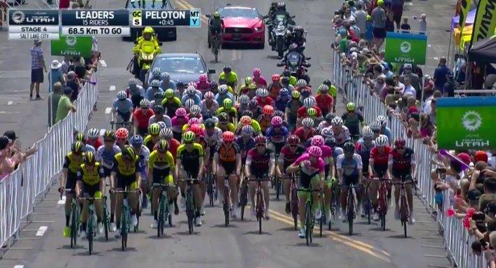 Pelotón etapa 4 vía@LottoJumbo_road