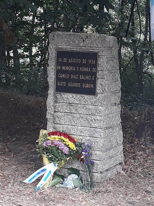 test Twitter Media - Homenaje a las víctimas de la represión franquista en la Comarca de la Ulloa. En el momumento a Camilo Díaz Baliño y Sixto Aguirre Garín, asesinados el 14 de agosto de 1936, en la carretera de Palas de Rei a Melide. https://t.co/YKEnkNPHD1