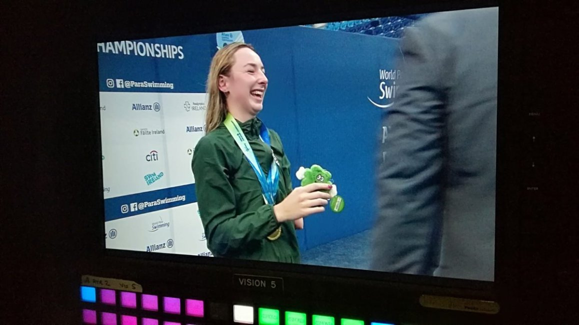 test Twitter Media - GOLD!!!!!!!!! Ellen Keane raises the tricolour on the final day of the Alliance European Championships!🥇@nacdublin @Paraswimming @ParalympicsIRE @AllianzIreland @swimireland @olympiccouncil  #Dublin2018 https://t.co/er5rpMzdhF