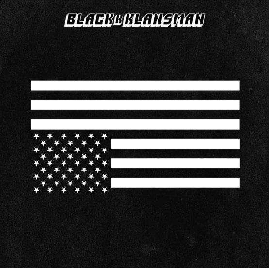 Image result for black and white flag upside down blackkklansman
