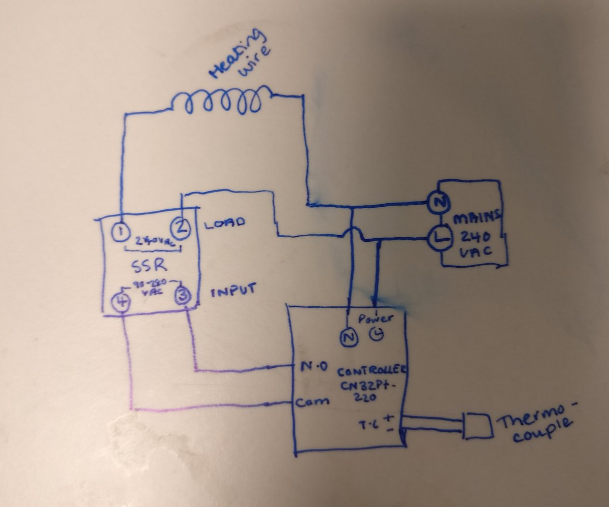 hight resolution of trying to wire a super simple circuit w thermocouple ssr heating wire and pid controller