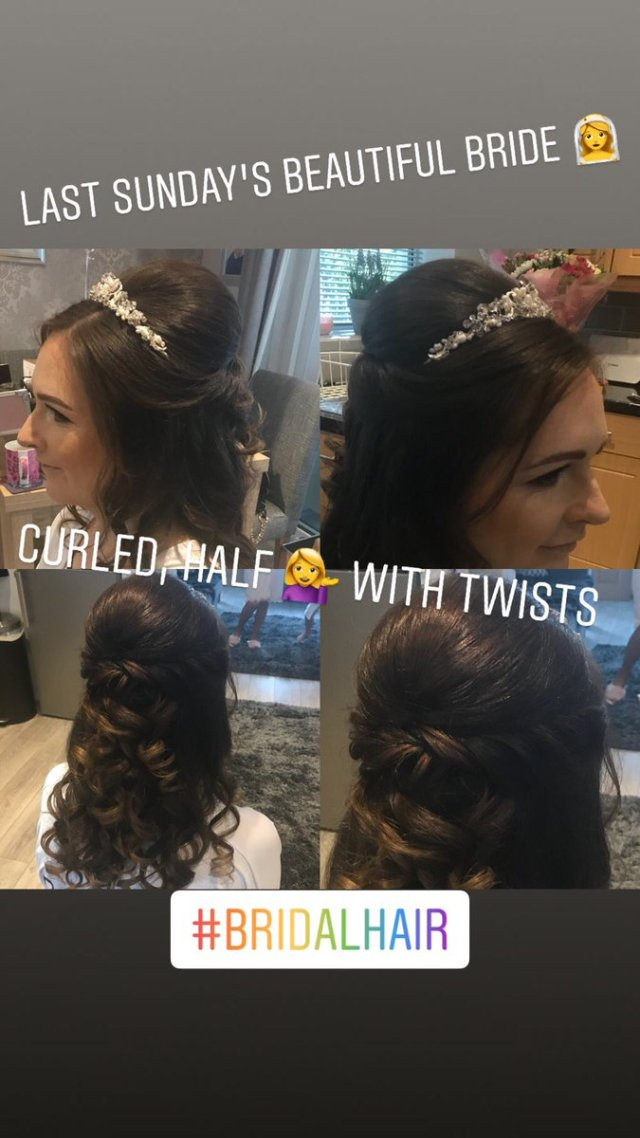 "hair fantasy on twitter: ""last sunday's beautiful bride"