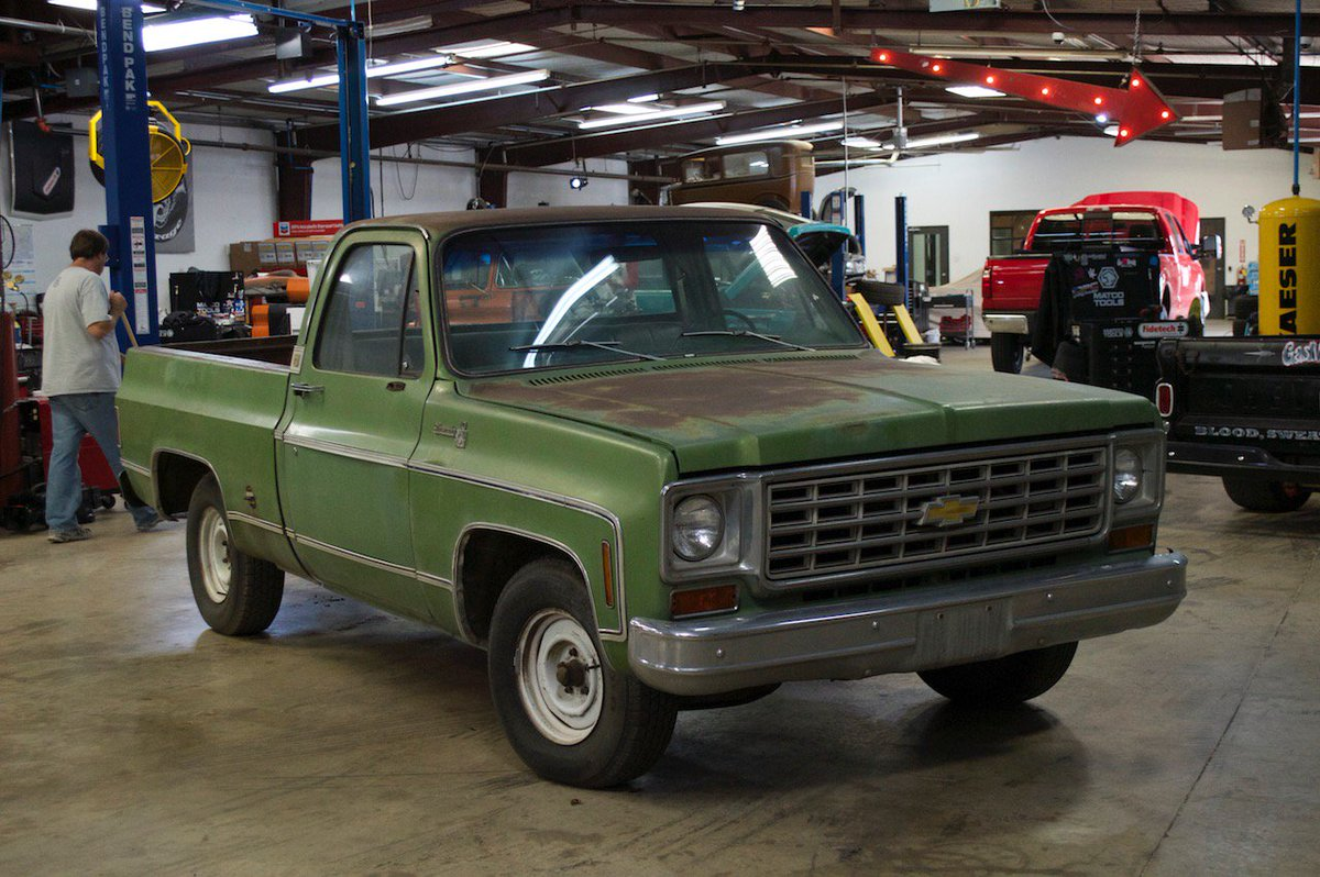 hight resolution of gas monkey garage on twitter a build that we loved so much we bought it back the 76 chevy c10 is as good as it gets for an old truck