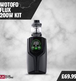 the flux mod is a 200w tc box mod and the tank that comes as part of this kit is the flow pro sub ohm tank http ow ly twmz30llsf7 pic twitter com  [ 1080 x 1080 Pixel ]