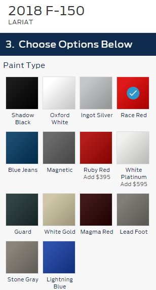 2018 F150 Colors : colors, Levine, توییتر, F-150, Paint, Color, Choices., Standard.…