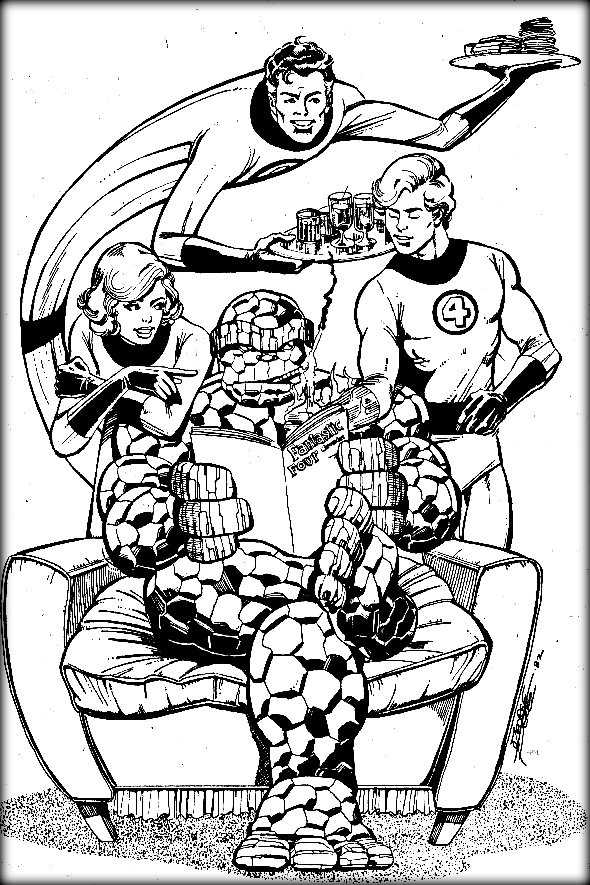 fantastic four coloring pages # 16