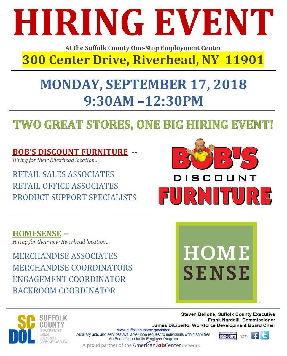 Bobs Furniture Riverhead : furniture, riverhead, Suffolklabor, Twitter:, Openings, HomeSense, Riverhead, Merchandise, Associates, (100), Hiring, Events:, Https://t.co/bKNicdgrVG|, One-Stop, Center, @SuffolkLabor, Hauppauge, #longIslandJobs, #Riverhead, #Retail