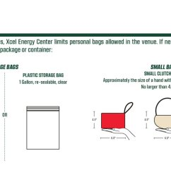 this year we have a new bag policy for mnwild games at xcelenergyctr clear totes small bags allowed http ow ly 7ckm30llusd pic twitter com  [ 1200 x 675 Pixel ]