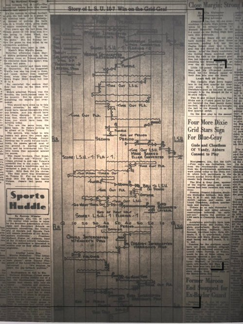 small resolution of todd politz on twitter these grid grafs sic newspapers used to publish are awesome please bring them back here s a larger view of the 1941 lsu uf