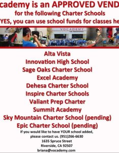 Vocademy is an approved vendor for the following schools alta vista innovation high school sage oaks charter excel academy dehesa inspire also on twitter rh