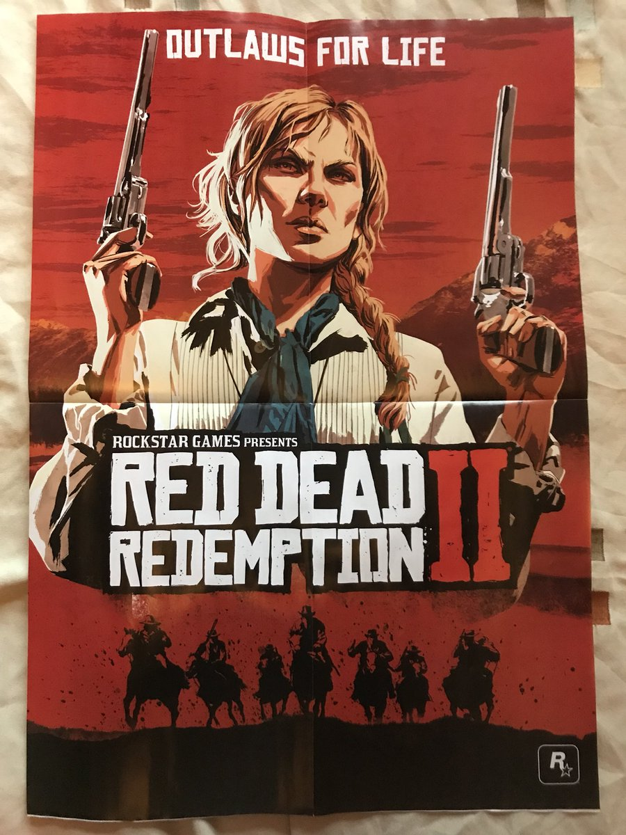 got my double sided red dead redemption