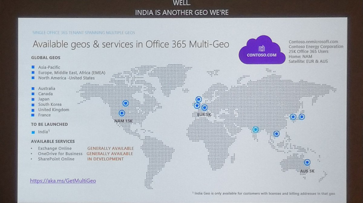 hight resolution of djavan roa on twitter announcing sharepoint online multi geo ga for q1 cy19 joining exchange online and onedrive msignite office365