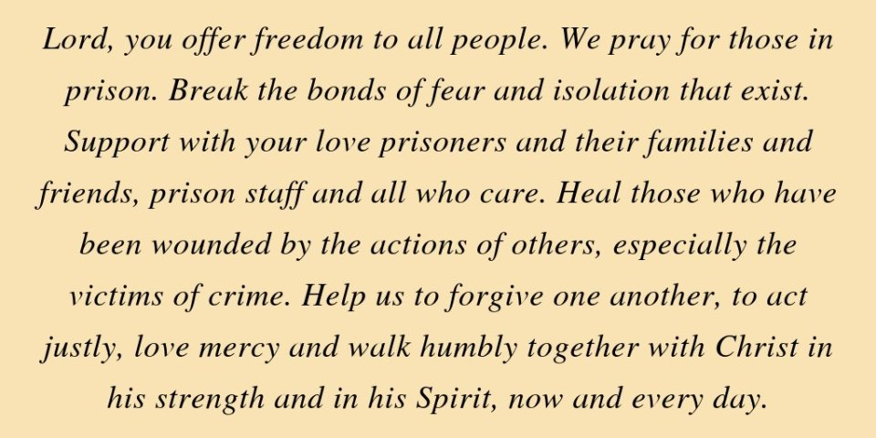 On Prisons Sunday we pray:
