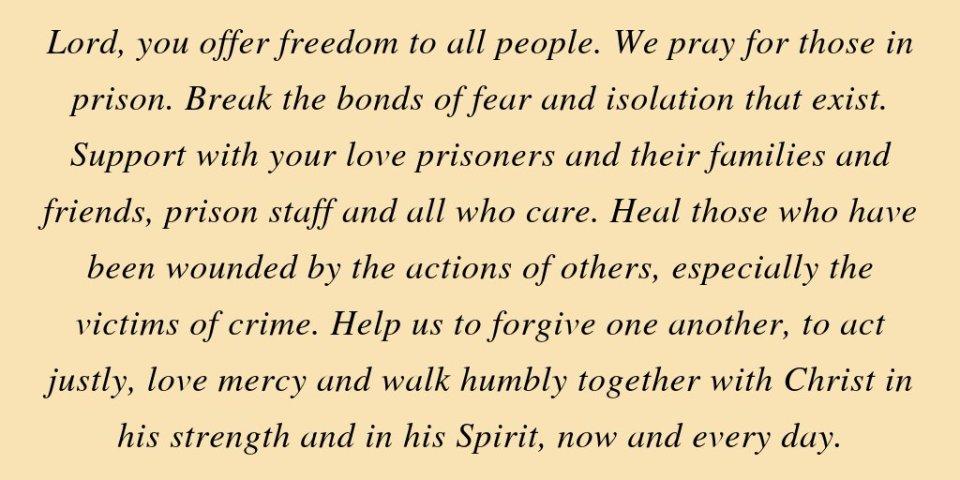 On Prisons Sunday we pray: