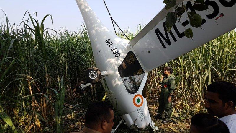 Crashed Indian Air Force Pipistrel Virus SW 80 microlight aircraft.