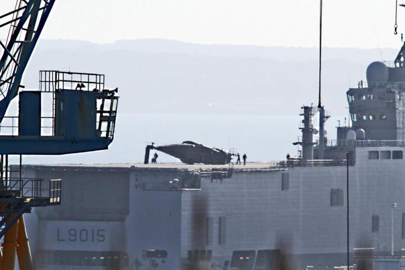 NH90 Caïman Crash abroad BPC Dixmude