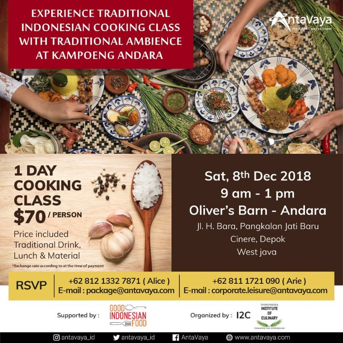Antavaya On Twitter Dear Antavaya Fellas Do You Want Know More About Indonesia Culture Heritage Let S Find Out How Delicious And Tempting Indonesian Food By Attending Traditional Indonesian Cooking Class At Kampoeng