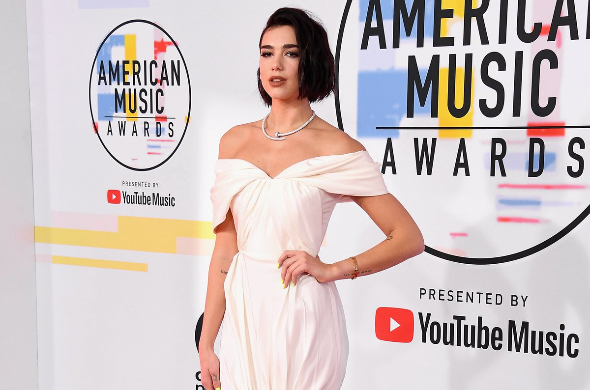 Image result for dua lipa american music awards 2018 site:twitter.com