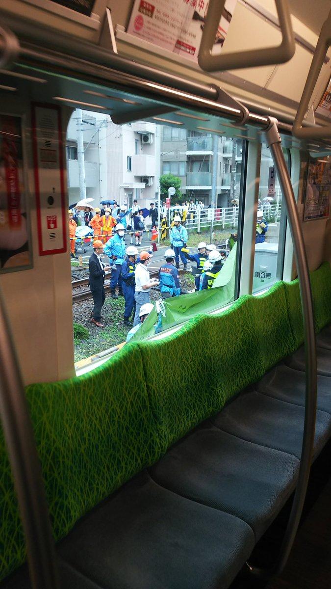 北千束駅で高校生の飛び降り自殺の人身事故の現場画像