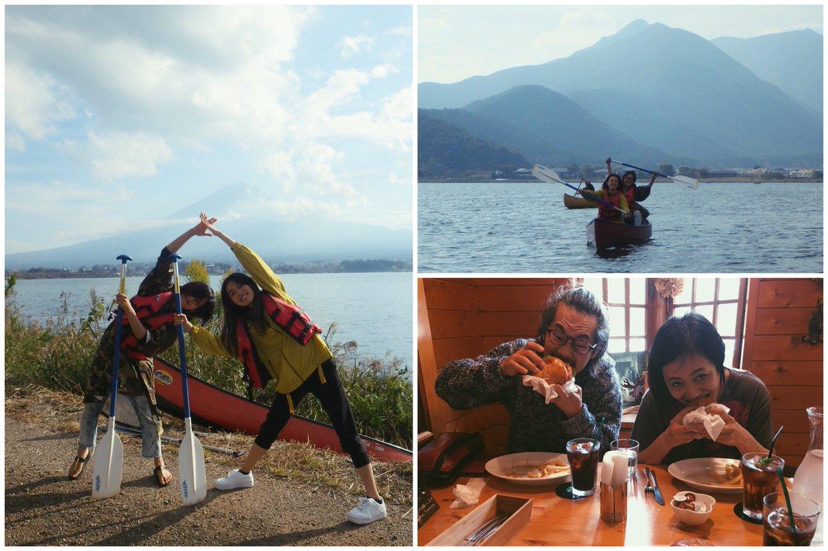 test ツイッターメディア - 久々にマキ姉さんにいっぱい遊んでもろた(о´∀`о) 一緒にカヌー漕いだり天然石でブレスレット作ったり… のんびり楽しい休日やった❤︎ ハンバーガーにかぶりつくキリンさんとマキさんめっちゃええ顔してる🍔笑  この日まで富士山の頭は年中白いもんやと思ってた…🗻  次はどうか晴天の日に☀︎ https://t.co/VdefRt5jsy