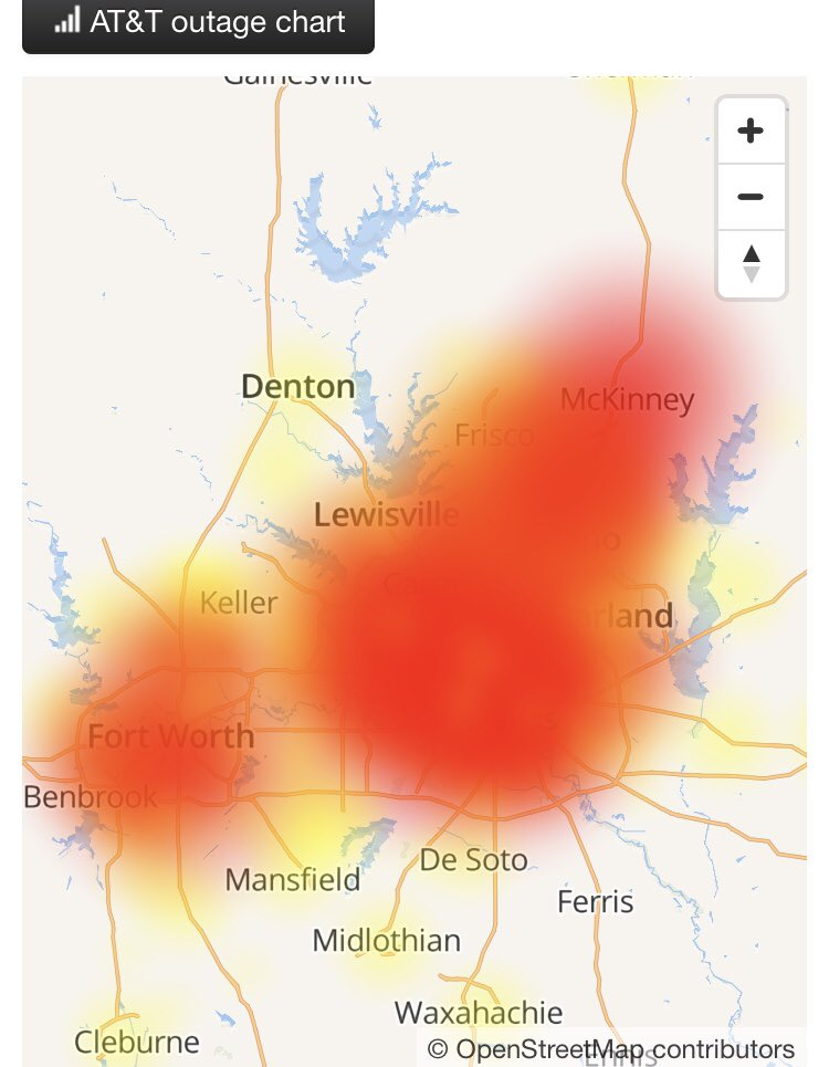 AT&T Outage Map • Is The Service Down?
